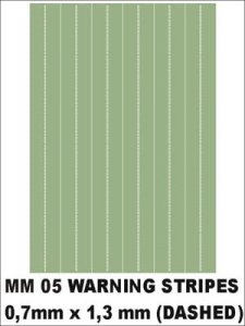 MONTEX MM05 - Warning stripes (dashed) 0,7x1,3mm