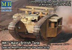 MASTER BOX 72003 - 1:72 MK I  Male - British Tank - Special Modification for the Gaza Strip