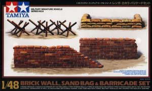 TAMIYA 32508 - 1:48 Brick Sandbag Barricade Set