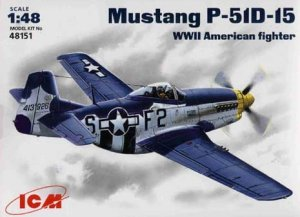 ICM 48151 - 1:48 Mustang P-51 D-15 WWII US Air Forces fighter