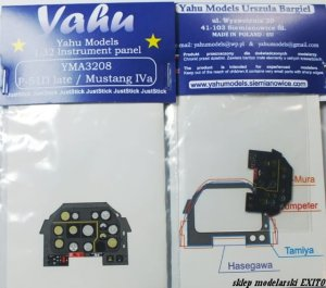 YAHU YMA3208 - 1:32 P-51D late / Mustang IVa - Instrument Panel