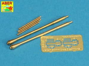 ABER A32026 - 1:32 Set of 2 barrels for Japanese 30 mm Type 5 aircraft machine cannons