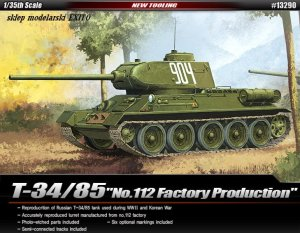 ACADEMY 13290 - 1:35 T-34/85 No.112 Factory Production