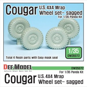 DEF MODEL DW35072 - 1:35 Cougar 4X4 MRAP Sagged Wheel set