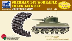 BRONCO AB 3544 - 1:35 Sherman T49 Workable Track Link Set