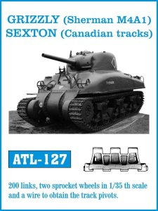FRIULMODEL ATL 127 - 1:35 Grizzly ( Sherman M4A1 ) Sexton (Canadian tracks)