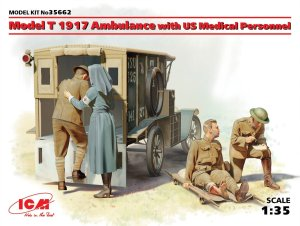 ICM 35662 - 1:35 Model T 1917 Ambulance with US Medical Personnel