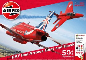 AIRFIX 50159 - 1:48 RAF Red Arrows Gnat and Hawk - 50th Display Season Gift Set