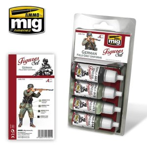 AMMO MIG 7021 - German Field Grey Uniforms - Figures Set