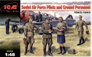 ICM 48084 - 1:48 Soviet Air Foce Pilots and Ground Personnel (1943-1945)