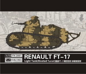 FLYHAWK 3001 - 1:72 Renualt FT-17 Light Tank (Riveted turret) 1+1