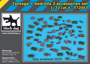 BLACK DOG T72057 - 1:72 Tentage plus bedrols 3 accessories set