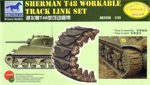BRONCO AB 3538 - 1:35 Sherman T48 Workable Track Link Set