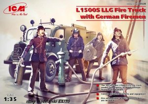 ICM 35528 - 1:35 L1500S LLG Fire Truck with German Firemen