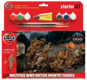 AIRFIX 55211 - 1:32 Multipose WWII British Infantry Figures