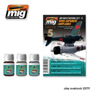 AMMO MIG 7418 - WWII Japanese Airplanes - Air Weathering Set