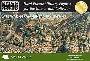 PLASTIC SOLDIER 15002 - 15 mm Late War German Infantry 1943-45
