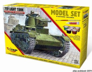 MIRAGE 835092 - 1:35 Polish Light Tank 7TP - Model Set