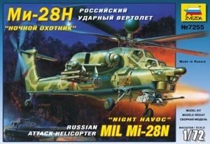ZVEZDA 7255 - 1:72 Mil Mi-28N Russian Attack Helicopter