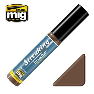 AMMO MIG 1250 - Streaking Brusher - Medium Brown