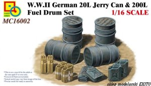 CLASSY HOBBY 16002 - 1:16 WWII German 20L Jerry Can & 200L Fuel Drum Set