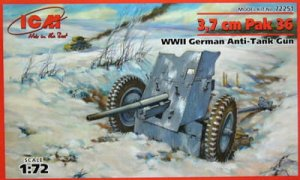 ICM 72251 - 1:72 3,7cm Pak 36 WWII German Anti-Tank gun