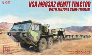 MODELCOLLECT UA72083 - 1:72 USA M983A2 HEMTT Tractor with M870A1 Semi-Trailer