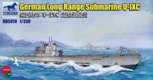 BRONCO NB 5010 - 1:350 German Long Range Submarine Type U-IXC