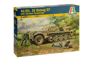 ITALERI 6561 - 1:35 Sd.Kfz. 10 Demag D7 with German Paratroops