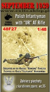"TORO MODEL 48F27 - 1:48 September 1939 Polish Infantryman with ""UR"" AT Rifle"