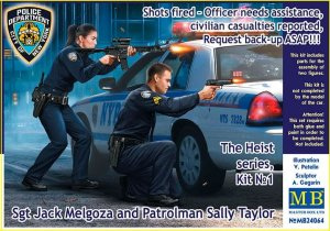 MASTER BOX 24064 - 1:24 Sgt Jack Melgoza and Patrolman Sally Taylor - Shots fired - Officer needs assistance - The Heist series, Kit 1