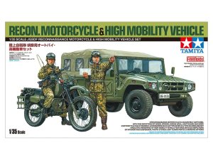TAMIYA 25188 - 1:35 JGSDF Recon Motorcycle & High Mobility Vehicle