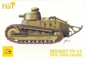 HAT 8113 - 1:72 Renault FT-17 with 37 mm cannon