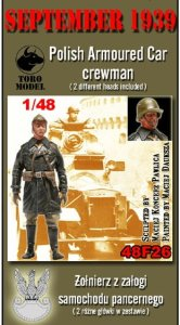 TORO MODEL 48F26 - 1:48 September 1939 Polish Armoured Car crewman