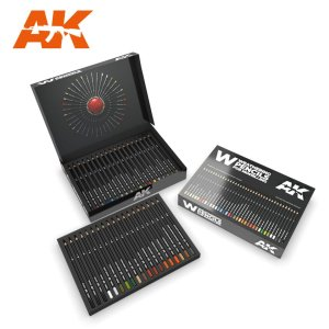 AK INTERACTIVE 10047 - Weathering Pencils - Deluxe Edition Box - zestaw 37 kredek do weatheringu