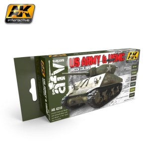 AK INTERACTIVE 4210 - US Army & USMC Green Colors
