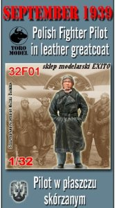 TORO MODEL 32F01 - 1:32 September 1939 Polish Fighter Pilot in leather greatcoat