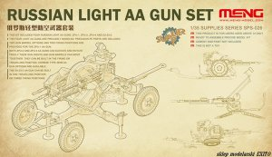 MENG MODEL SPS026 - 1:35 Russian Light AA Gun Set - ZPU-1 / ZPU-2 / ZPU-4 / ZU-23-2