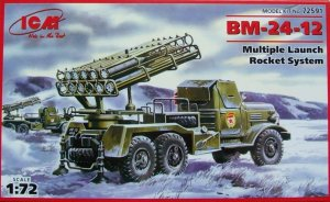 ICM 72591 - 1:72 BM-24-12, Multiple Launch Rocket System on ZiL-157 base