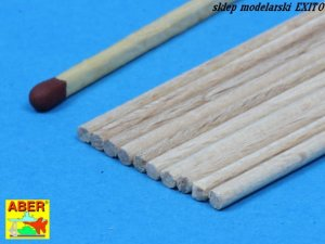 ABER WR2 - Wood round rods 2,00 mm length 250 mm x 10 pcs.