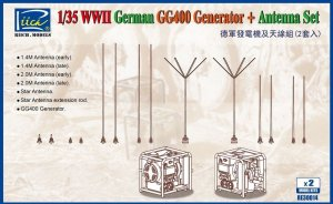RIICH MODELS RE30014 - 1:35 German Antenna Set & GG400 Generator (2x)