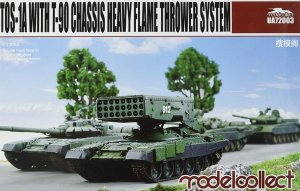 MODELCOLLECT UA72003 - 1:72 TOS-1A with T-90 Chassis