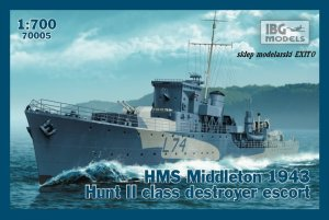 IBG 70005 - 1:700 HMS Middleton 1943 Hunt II class destroyer escort