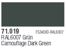 VALLEJO Model Air 71019 - Acrylic paint  Camouflage Dark Green 17 ml (FS34064 RAL6007)