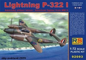 RS MODELS 92093 - 1:72 Lightning P-322 I