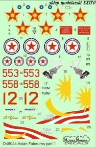 MODELMAKER D48044 - 1:48 Asian Fulcrums part 1 Malaysia , Kazakhstan , North Korea