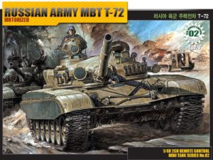 ACADEMY 13308 - 1:48 Russian Army MBT T-72 (model z napędem)