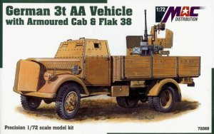 MAC 72069 - 1:72 Opel Blitz 3t Armoured Cab with Flak 38