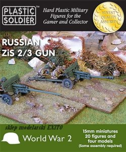 PLASTIC SOLDIER G15002 - 15 mm Russian Zis 2 / 3 gun anti-tank / field gun (4 szt)