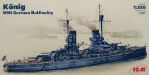 ICM S.001 - 1:350 König WWI German Battleship